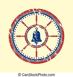 Bell symbol grunge