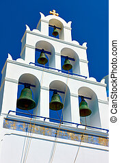 Bell-tower in Oia in Santorini