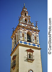 Bell tower in the church