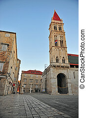 Bell tower in Trogir old town