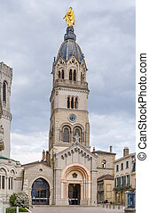 Bell tower of Basilica of Notre-Dame de Fourviere, Lyon, France