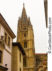 Bell tower of Old Catholic Church in Spain