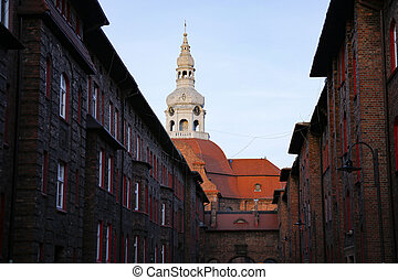 bell tower of Saint Anne Church, Nikiszowiec, Katowice, Poland