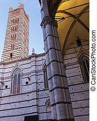 Bell Tower of Siena's Cathedral in Italy