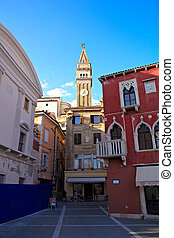 Bell tower of St. George church, Piran