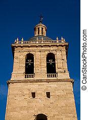 Bell tower of the cathedral of Ciudad Rodrigo, Salamanca, Spain