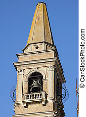 Bell Tower of the church in Tuscany, Italy.