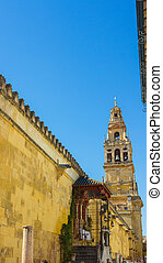 bell tower of the famous Mosque of Cordoba, Spain