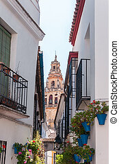 Bell tower of The Great Mosque in spanish Cordoba