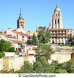 Segovia - Bell towers and old town of Segovia, Spain