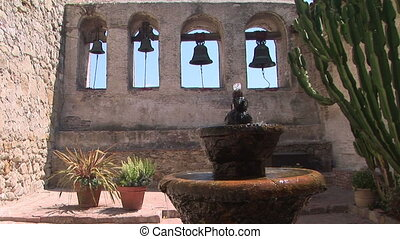 Bell Wall and Fountain - Water fountain and historic bells...