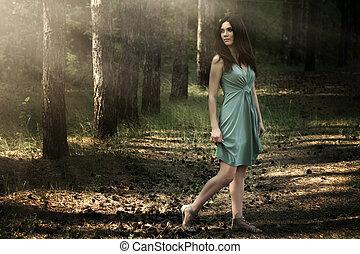 bella donna, in, natura, scenario