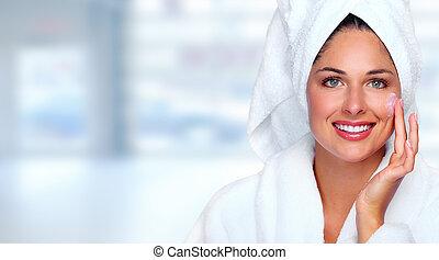 bella donna, moisturising, cream., faccia