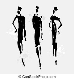 bella donna, silhouette.
