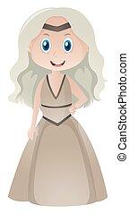 bella donna, vestire, medievale