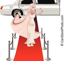 bella donna, vestire, musulmano