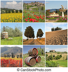 Bella Toscana - poster with amazing beauty of tuscan scenery...