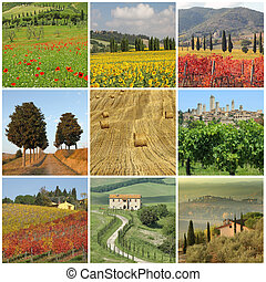 Bella Toscana - poster with images of spectacular beauty of...