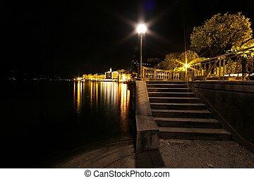 bellagio, escalier, nuit