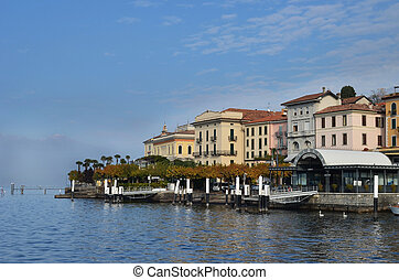 View of Bellagio on Lake Como in northern Italy