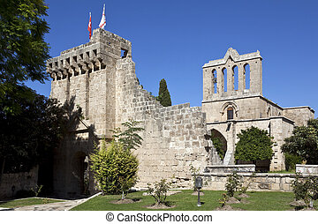 The Gothic monastery at Bellapais (Abbaye de la Paix) in the Turkish Republic of Northern Cyprus.