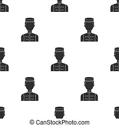 Bellboy icon in black style isolated on white background. Hotel pattern stock vector illustration.