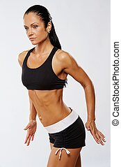 belle femme, exercise., fitness