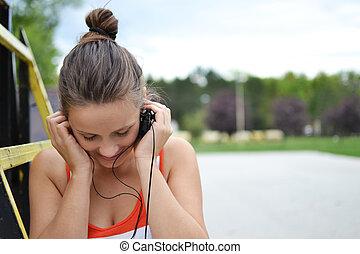 belle femme, musique écouter