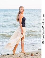 belle femme, plage