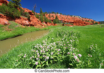 Belle Fourche River - Wyoming - Belle Fourche River flows...