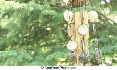 bellen, bamboe, wind