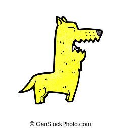 bellenden hund, karikatur