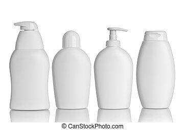 belleza, higiene, contenedor, tubo, asistencia médica