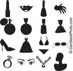 belleza, iconos