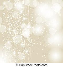 belleza, resumen, ilustración, fondo., vector, año, nuevo, ...