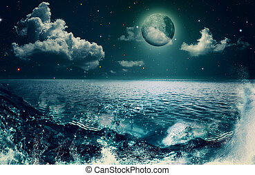 bellezza, oceano, astratto, naturale, sfondi, per, tuo, disegno