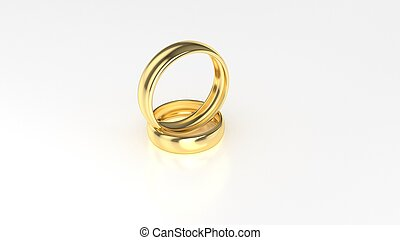 bellezza, oro, fondo., interpretazione, matrimonio, anello bianco, 3d