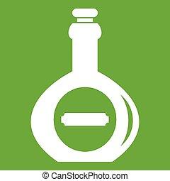 Bellied bottle icon green