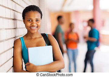 bello, africano, studente università