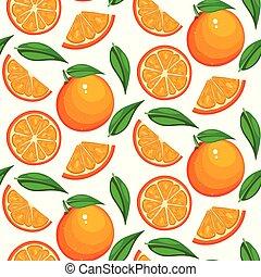 bello, agrume, dolce, pattern., seamless, giallo, frutta, fondo, vendemmia, arancia