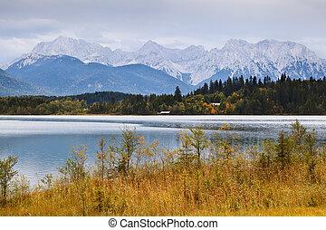 bello, alpi, in, autunno
