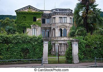 bello, Antico, villa, secolo, stresa, localizzato, disuso,...