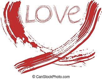 bello, arte, messaggio, amore, passione