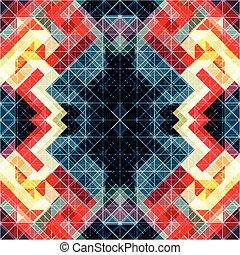 bello, astratto, colorito, geometrico, fondo