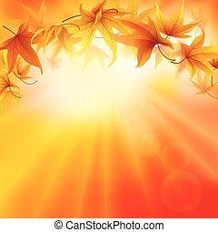 bello, autunno, fondo