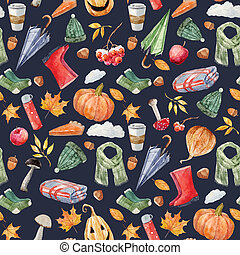 bello, autunno, modello