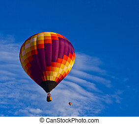 bello, balloon, contro, brillante, cielo blu