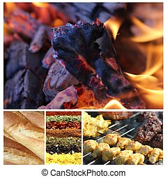bello, barbecue, collage, 1