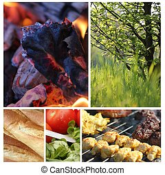 bello, barbecue, collage, 2