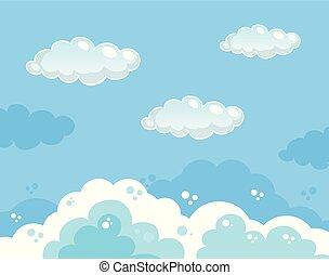 bello, blu, cielo chiaro, fondo